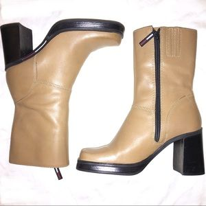TOMMY HILFIGER 90's Style Ankle Boots Camel